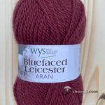 100% Bluefaced Leicester Aran – Pomegranate 569