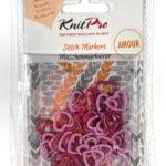 Kovové označovače srdiečka KnitPro